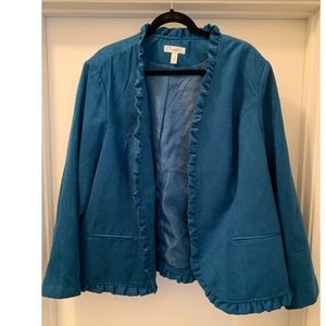 Cute turquoise jacket from Dress Barn. Size 22/24